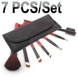 7 Makeup brush set eyeshadow blush lip gloss pen case