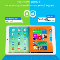8Ми дюймовый планшет teclast x80hd с двумя oc на борту (win10 + android 4.4.4)