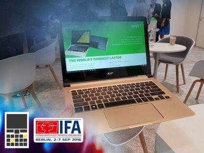 Acer swift 7 на ifa 2016. реально, самый тонкий ноутбук в мире!