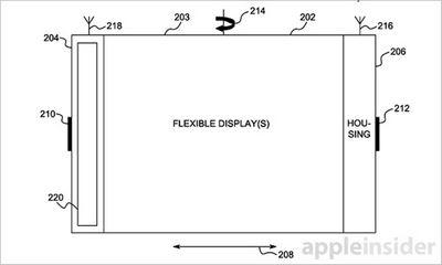 Apple получила патент на «гибкий iphone»