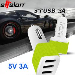 Автомобильный адаптер питания effelon: 3 ампера на 3 порта