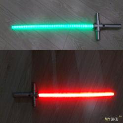 Бюджетный световой меч из подручного хлама, пвх труб и светодиодной ленты.
