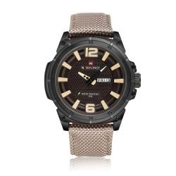 Большие наручные часы naviforce nf9066m в милитари стиле
