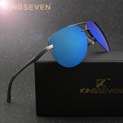 Большие полярзационные солнцезащитные мужские очки kingseven в стильном кейсе