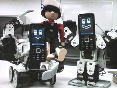 Callo cally - забавные роботы на основе мобильных телефонов