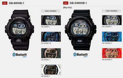 Casio g-shock gb-6900b и gb-x6900b – смартчасы мечты