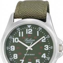 Часы мужские citizen qq falcon vw86-851 khaki green