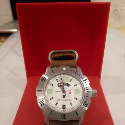 Часы восток командирские 350606 и кожаный зулу-браслет из волгограда.
