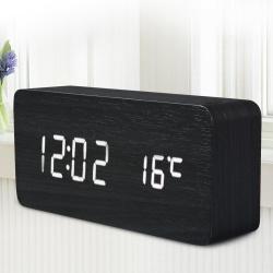 Деревянные электронные домашние часы с отличным дизайном