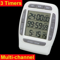 Digital lcd multi-channel timer countdown laboratory 3 channel timers 99 hours - 3х-канальный таймер