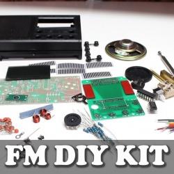 Fm приемник с lcd дисплеем.набор для сборки.diy kit