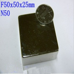 Fp wholesale craft model powerful strong rare earth ndfeb block magnet neodymium n50 magnets50x50x25mm большой мощный неодимовый магнит