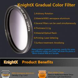 Градиентный фильтр knightx nd8/52mm.