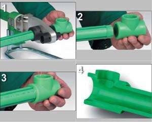 Как выполнить сварку полипропиленовых труб