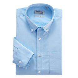 Классическая синяя рубашка