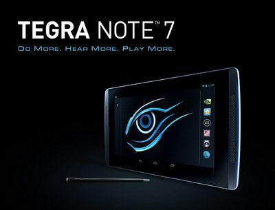 Компания gigabyte анонсировала планшет tegra note 7