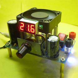 Конструктор для сборки понижающиего модуля (регулируемого блока питания) на lm338k
