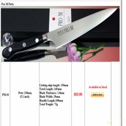 Кухонный нож kanetsugu pro m series pm-01 petty 130mm