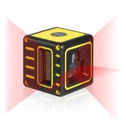 Лазерный нивелир на 3 линии (2v1h) firecore f212r. маленький кубик.