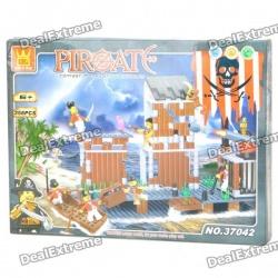 Лего совместимый конструктор пиратский форт от wange 358 деталей