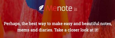Menote: дневник, которому расти и расти