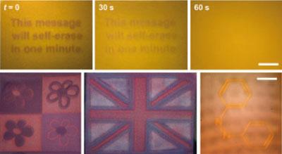 Наночастицы рисуют самоуничтожающиеся картинки