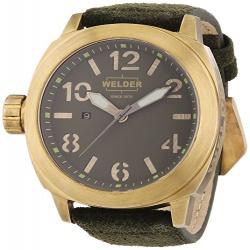 Наручные часы welder k-51. брутальный латунный сварщик !