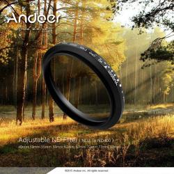 Nd фильтр andoer 52mm (нейтрально-серый фильтр) nd2 - nd400