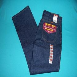 New mens rustler heavy duty regular fit boot jean size 32 x 32