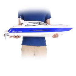 Обзор копийной радиоуправляемой яхты princess с бесколлекторной силовой установкой.