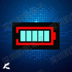 Очень яркий 5 сегментный индикатор в форме символа батарейки