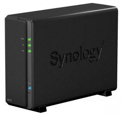 Однодисковое сетевое хранилище synology diskstation ds115 построено на двухъядерном процессоре