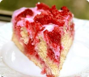 Пирог с малиной ( рецепт )