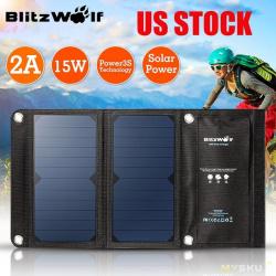 Портативное зарядное устройство (солнечная батарея) blitzwolf bw-l2