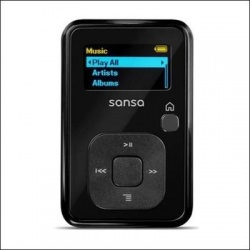 Sandisk sansa clip plus 8gb mp3 w/ microsd slot-black