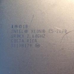Серверный б/у процессор intel xeon e5 2670 2.6 ггц