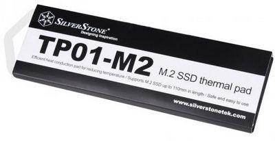 Silverstone tp01-m2: силиконовая прокладка для охлаждения пылких ssd