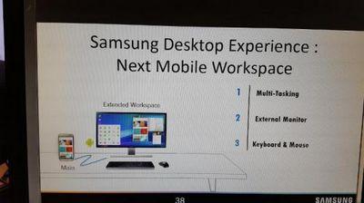 Смартфон samsung galaxy s8 может получить функцию, подобную windows continuum