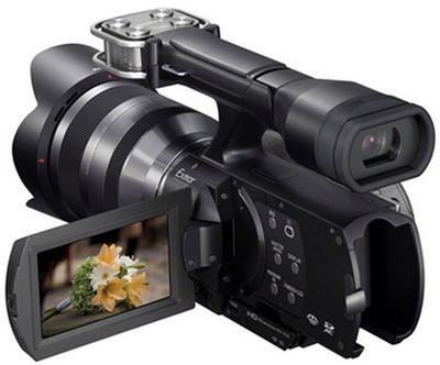 Sony представила 16-мегапиксельную видеокамеру со сменой оптикой handycam nex-vg20e