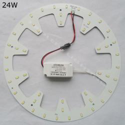 Светодиодная плата 24w (48 светодиодов 5730smd) на магнитном креплении - даем вторую жизнь старому светильнику №2