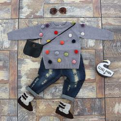 Свитер унисекс для детишек в возрасте от 1 года до 4 лет