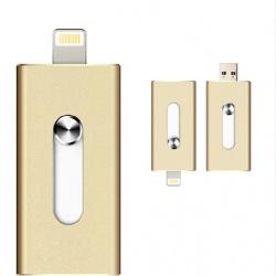 Универсальная usb флешка на 3 устройства, 16 гб.