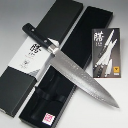 Yaxell zen 37 layers vg-10 damascus hammered(tsuchime) knife- японский нож-гюйто из vg-10