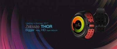 Zeblaze thor — смарт-часы с super amoled экраном и ос android 5.1 и картами google